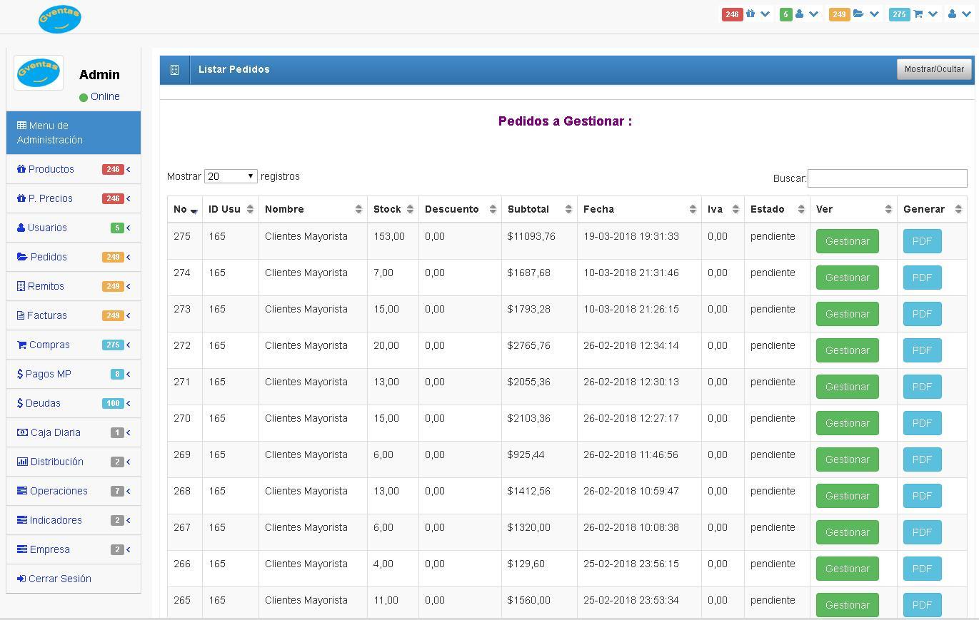 Sistema para tomar pedidos de clientes, ideal para Empresas Mayo