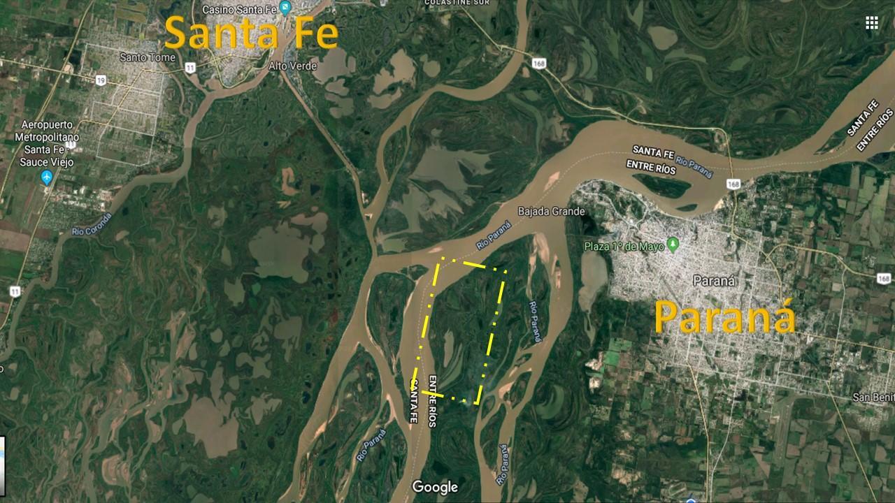 Isla en Rio Paraná a la de la capital de Enrte Rios