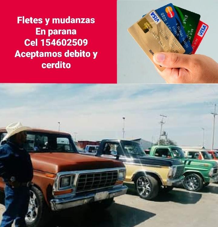 Fletes mudanzas 154609509 aceptamo debito y credito