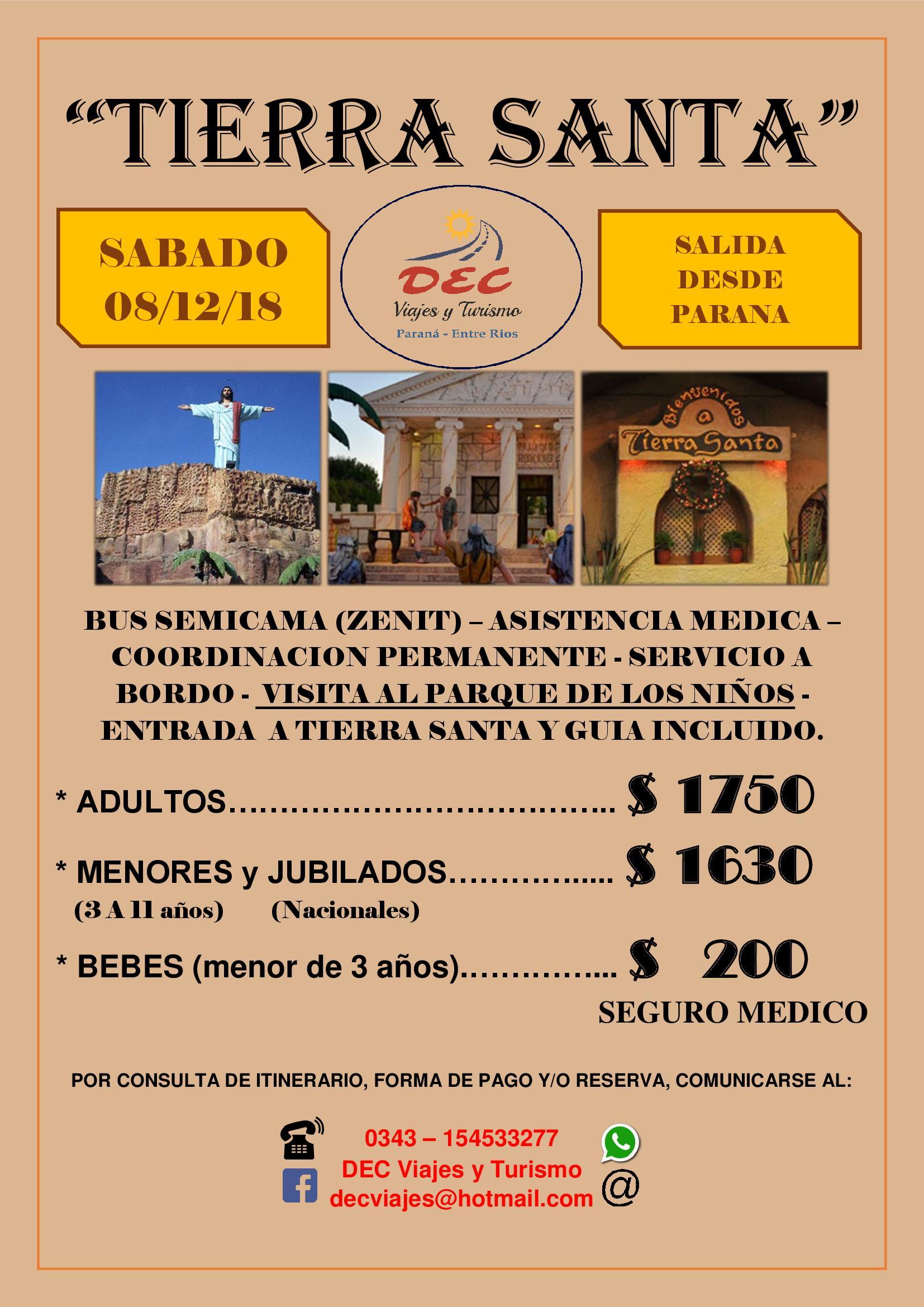 TEMAIKEN / TIERRA SANTA / PARQUE DE LA COSTA