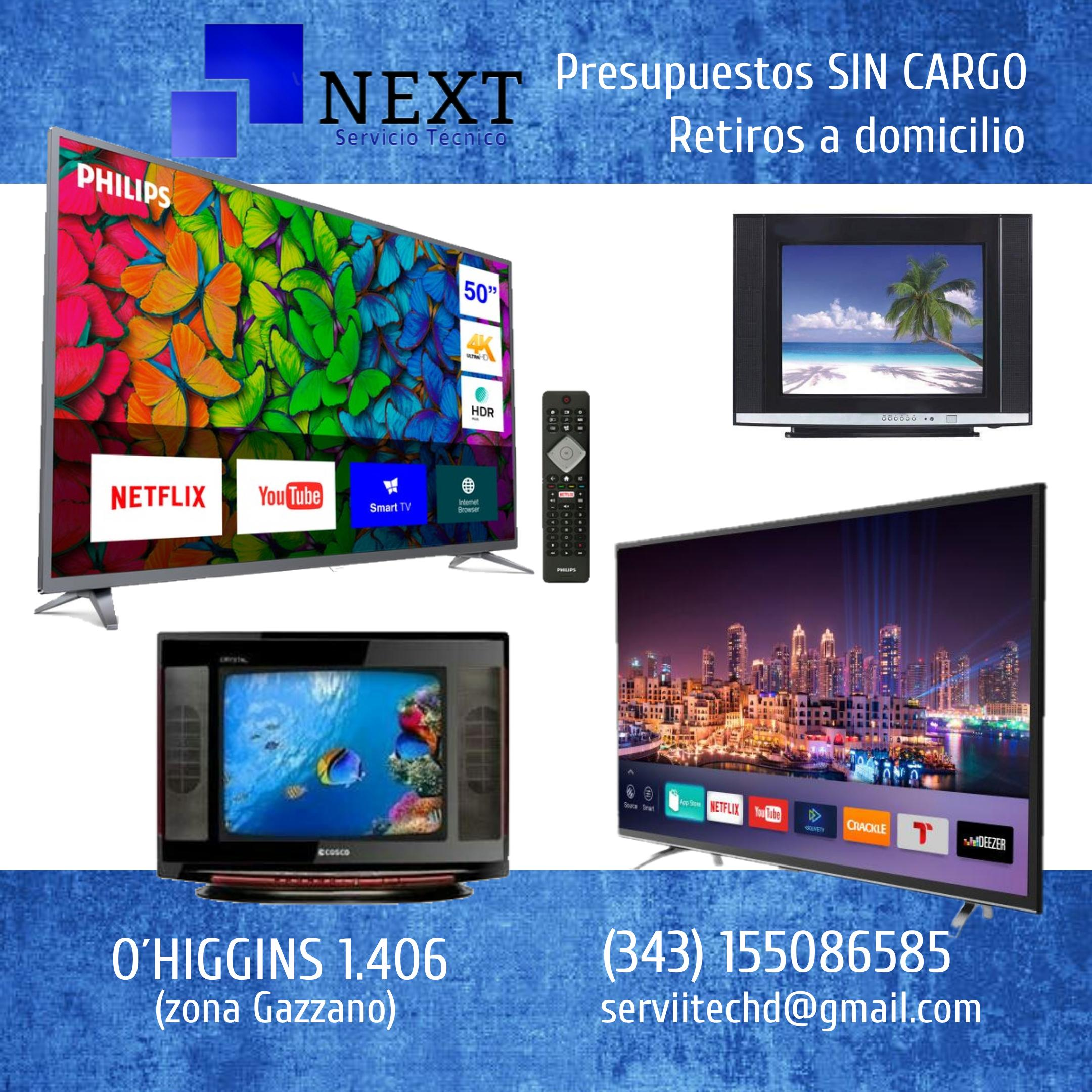 Reparación de TV COLOR, LCD, LED, SMART- Presupuestos sin cargo