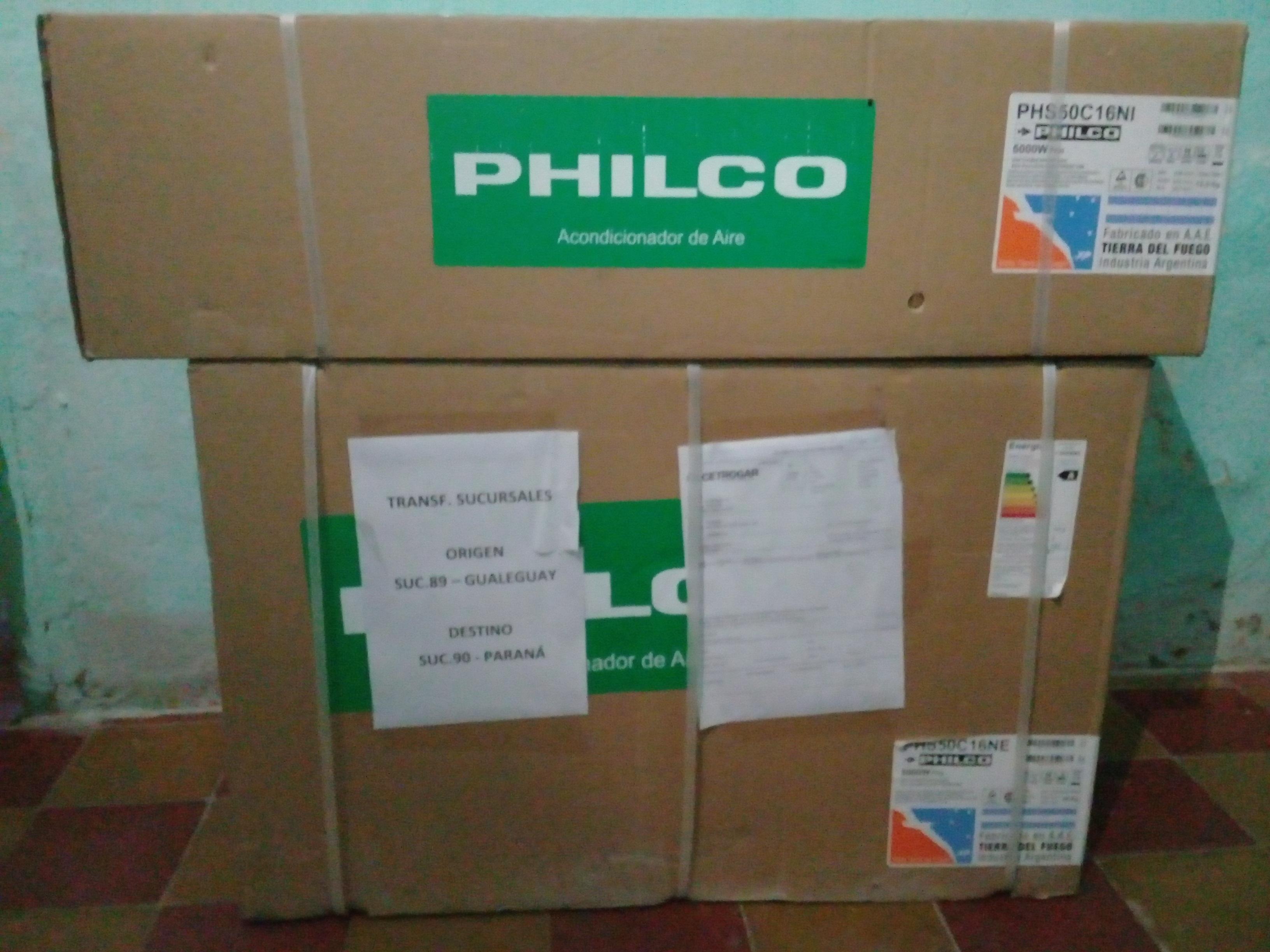 VENDO SPLIT PHILCO 5000W 4300FG SIN USO. ENTREGA Y CUOTAS.