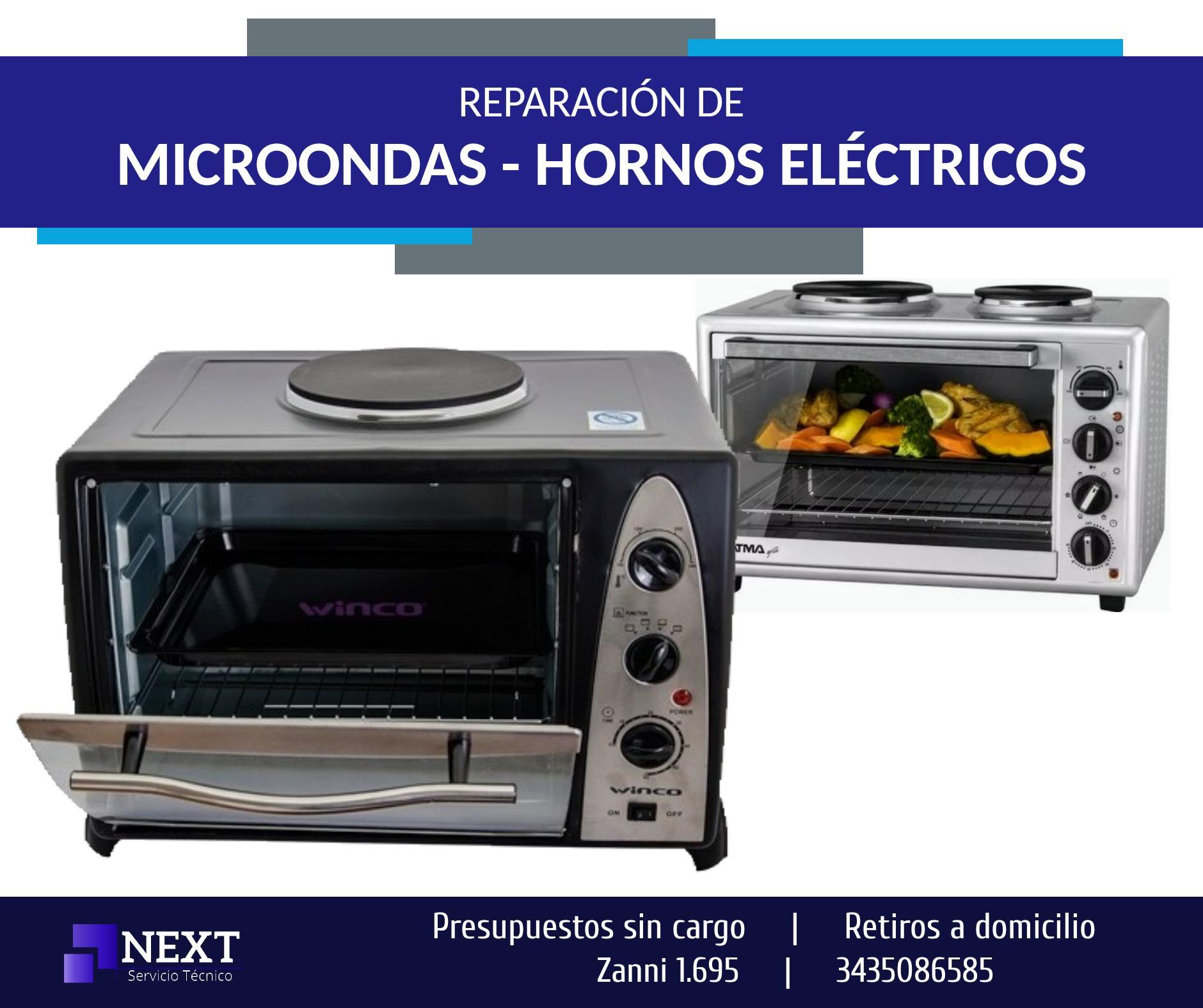 Reparacion MICROONDAS, HORNOS - Presupuestos sin cargo