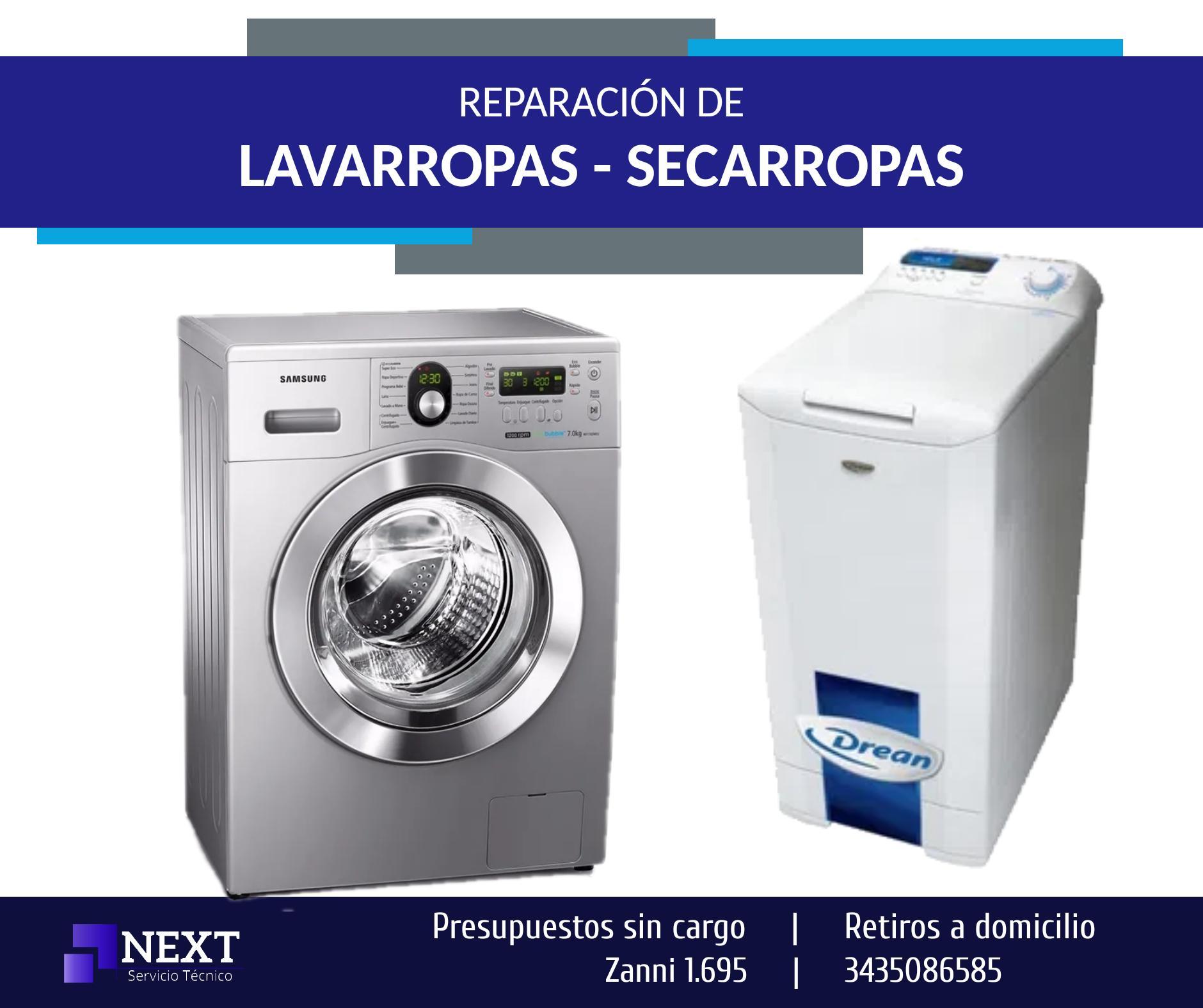 Reparación de LAVARROPAS,  SECARROPAS - Presupuestos sin cargo