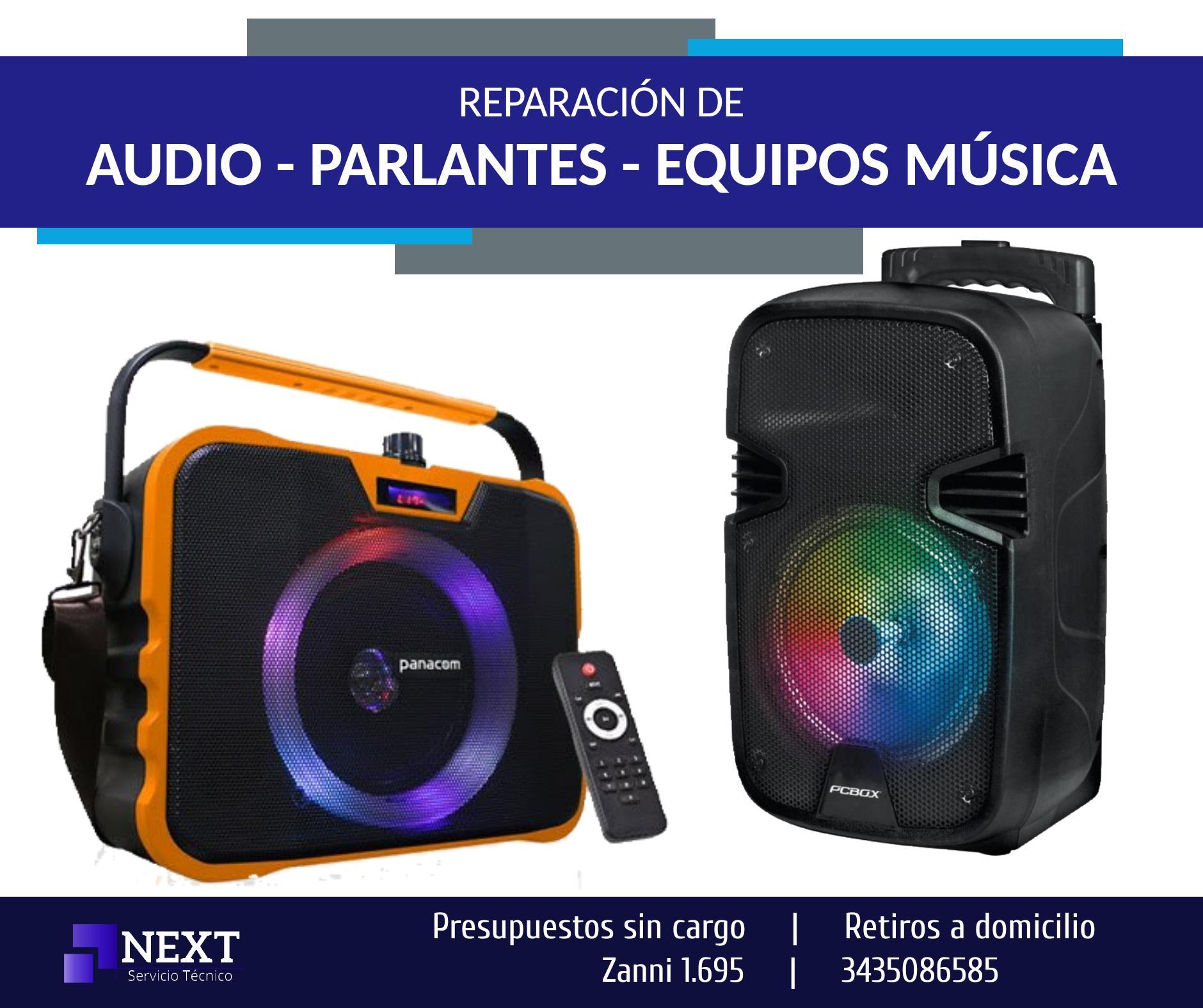 Reparación de AUDIO, PARLANTES - Presupuestos sin cargo